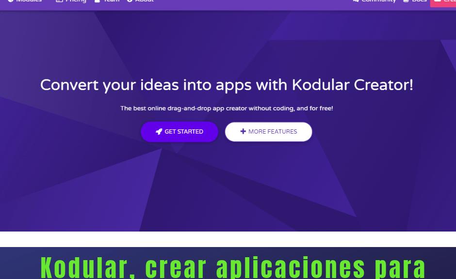 Kodular crear aplicaciones para Android sin saber programación